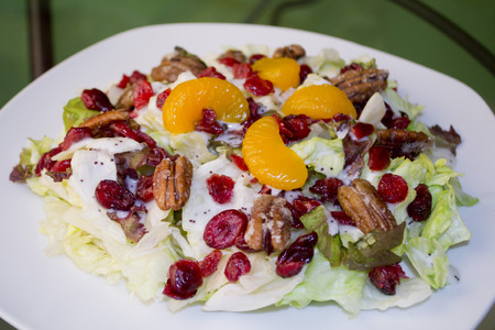 Cranberry and tangerine salad photo