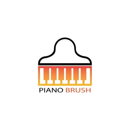 piano icon vector ilustration template Stock Illustratie