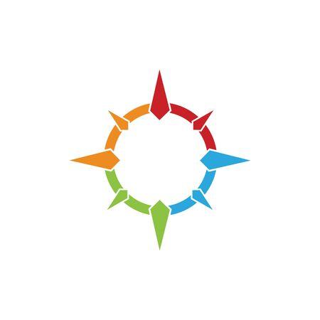 compas logo and symbol vector Illustration