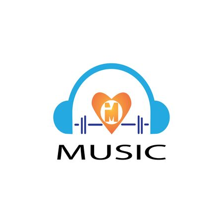 MUSIC LOGO VECTOR ILUSTRATION TEMPLATE Logo