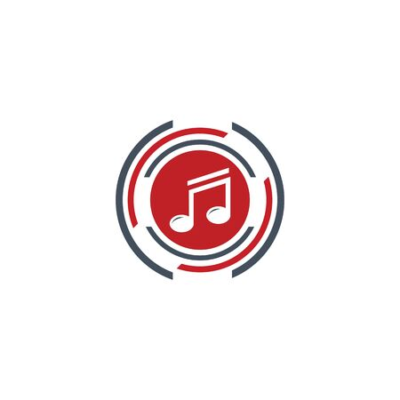MUSIC LOGO VECTOR ILUSTRATION TEMPLATE