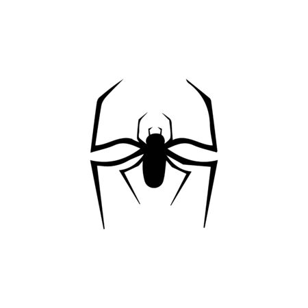 spider ilustration logo vector template