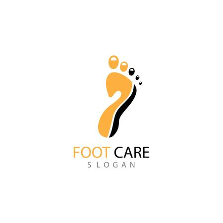 foot Logo Template vector illustration