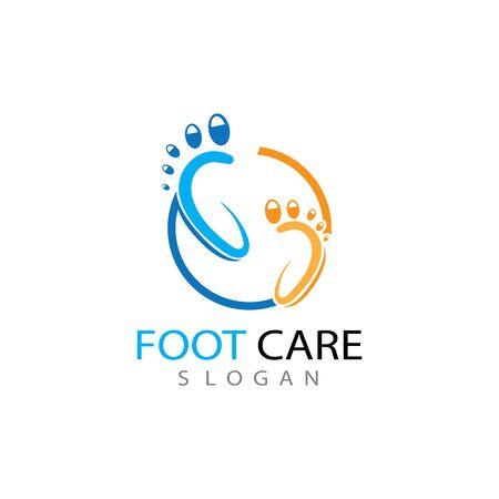 foot Logo Template vector illustration