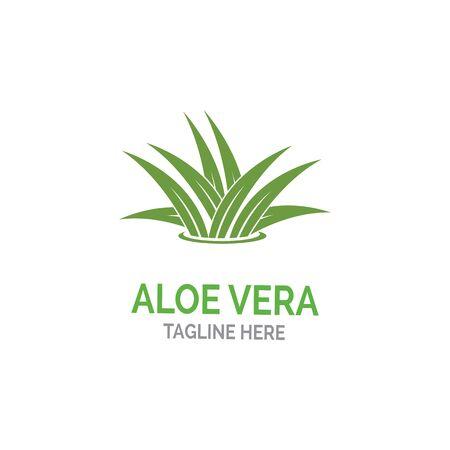 Aloe vera logo vector illustration template Иллюстрация