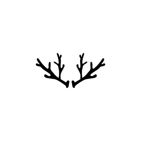 Deer antler horn ilustration logo vector template Illustration