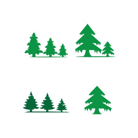 pine tree logo illustration vector design