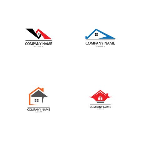 REAL ESTATE PROPERTY AND CONSTRUCTION LOGO DESIGN FOR BUSINESS CORPORATE SIGN . VECTOR