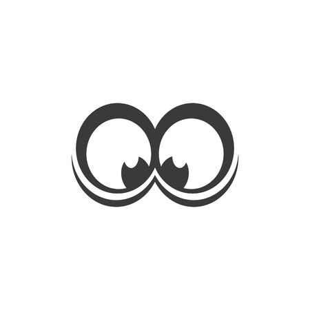 eye care health logo vector Illustration