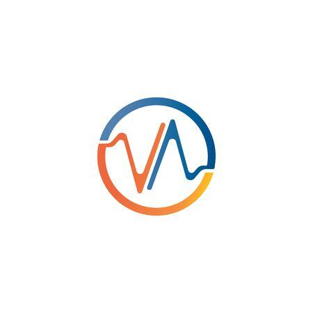 soundwave illustration logo icon vector template