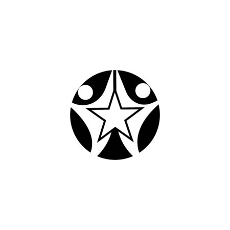 star succes people icon and symbols temlplate Stock Vector - 134741794