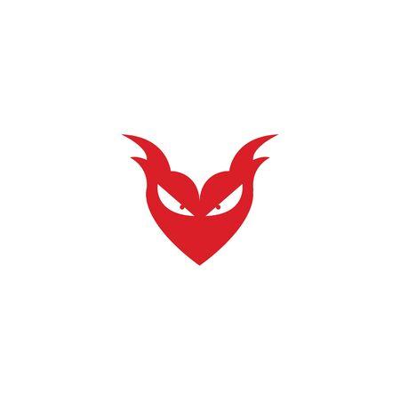devil logo vector  template Archivio Fotografico - 134965525