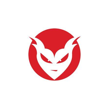 devil logo vector  template Archivio Fotografico - 134965539