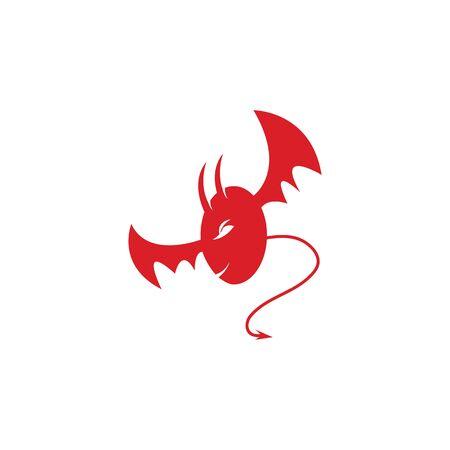 devil logo vector  template Archivio Fotografico - 134965593