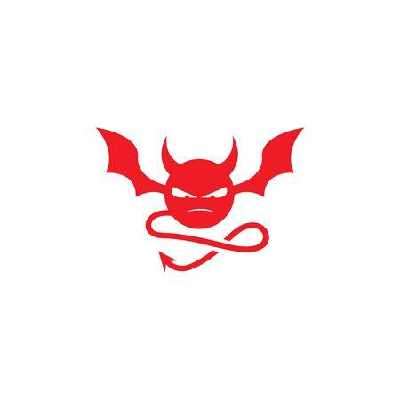 devil logo vector  template Archivio Fotografico - 134965594