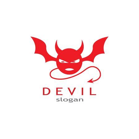 devil logo vector  template Archivio Fotografico - 134965603
