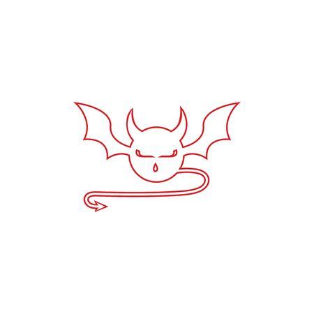 devil logo vector  template Archivio Fotografico - 134965614