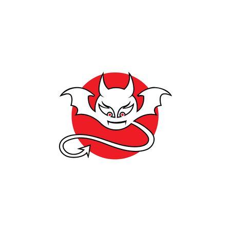 devil logo vector  template Archivio Fotografico - 134965627