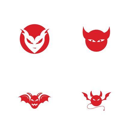 devil logo vector  template Archivio Fotografico - 134965654