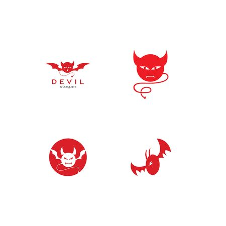 devil logo vector  template Archivio Fotografico - 134965656
