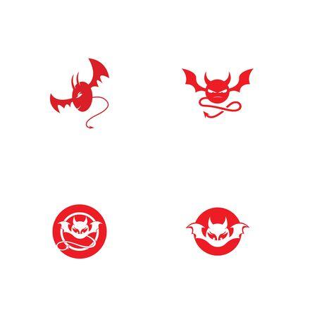 devil logo vector  template Archivio Fotografico - 134965658