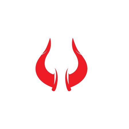 devil horn logo vector template Archivio Fotografico - 134965669