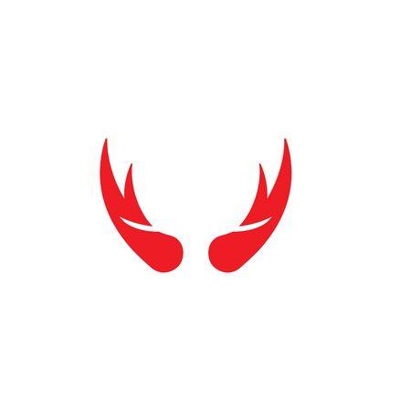 devil horn logo vector template Archivio Fotografico - 134965677