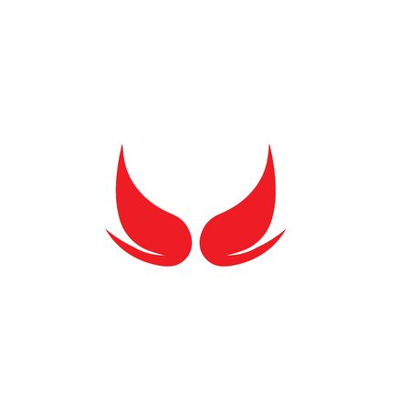 devil horn logo vector template