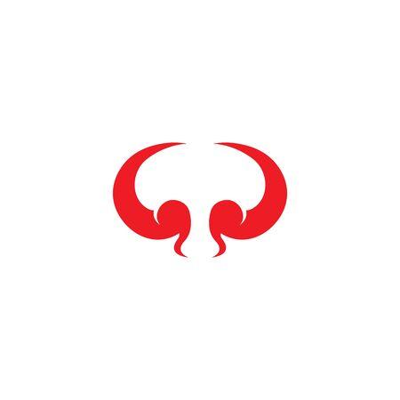 devil horn logo vector template Archivio Fotografico - 134965683
