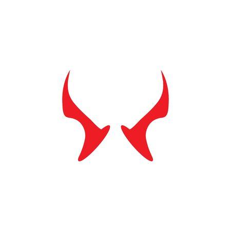 devil horn logo vector template Archivio Fotografico - 134965685