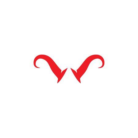 devil horn logo vector template Archivio Fotografico - 134965689