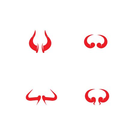 devil horn logo vector template Archivio Fotografico - 134965693