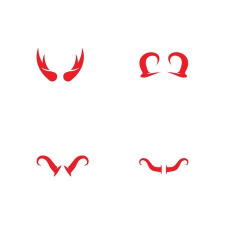 devil horn logo vector template Archivio Fotografico - 134965696