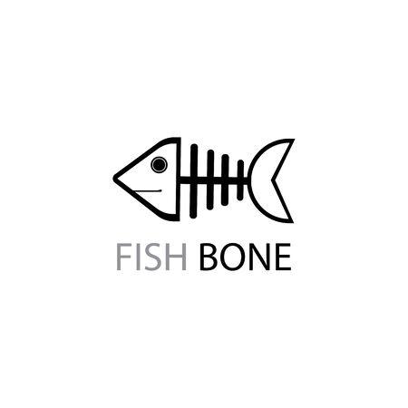 fish skeleton icon and symbol vector illustration Stock Illustratie