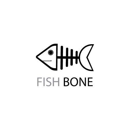 fish skeleton icon and symbol vector illustration Illustration