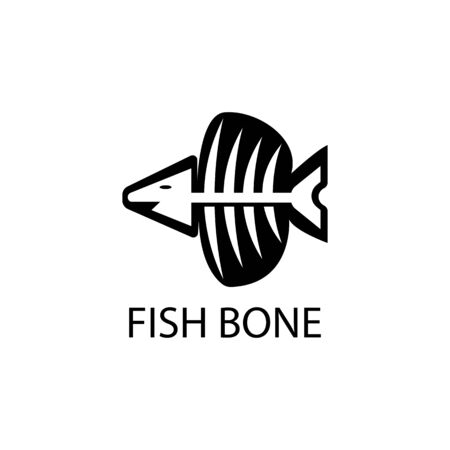fish skeleton icon and symbol vector illustration