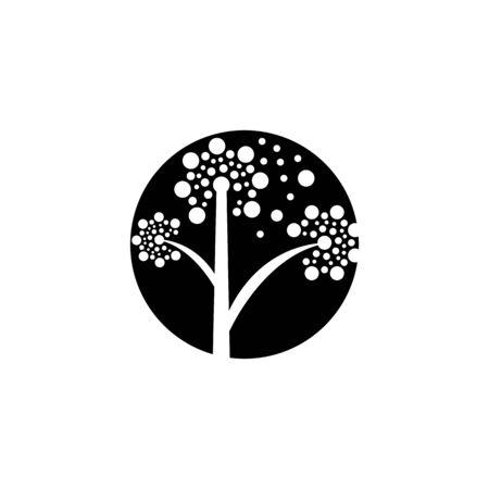 DANDELION FLOWER LOGO VECTOR TEMPLATE