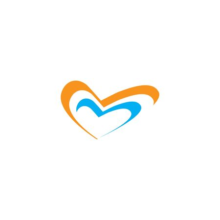 HEART LOGO VECTOR ILUSTRATION TEMPLATE