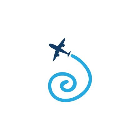 aviation icon and symbol vector template
