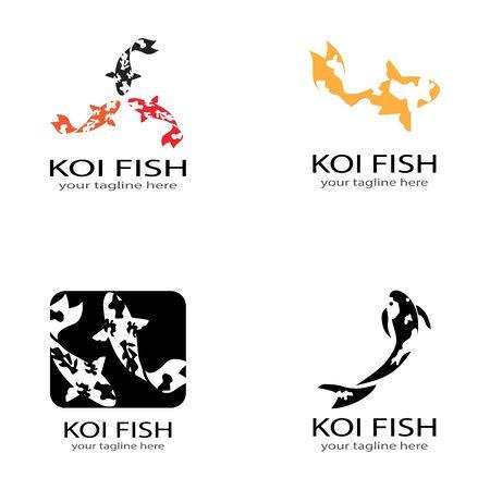 Koi fish animal  logo and symbols vector template