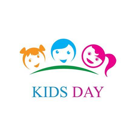 KIDS LOGO CONCEPT VECTOR SJABLOON Logo