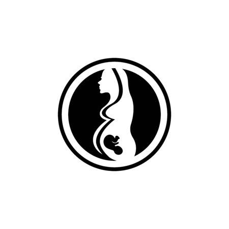Pregnant logo template vector icon illustration design Archivio Fotografico - 136967766