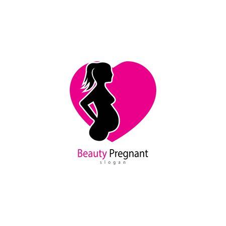 Pregnant logo template vector icon illustration design Archivio Fotografico - 136967825