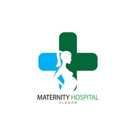 Pregnant logo template vector icon illustration design Archivio Fotografico - 136967961