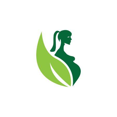 Pregnant logo template vector icon illustration design Archivio Fotografico - 136967963