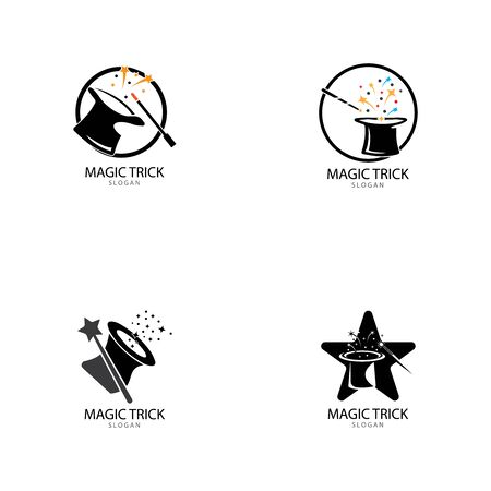 Illustration of magic hat with wand
