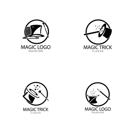 Illustration of magic hat with wand Vector Illustration