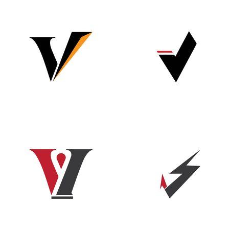 V Letter Logo Business Template Vector icon