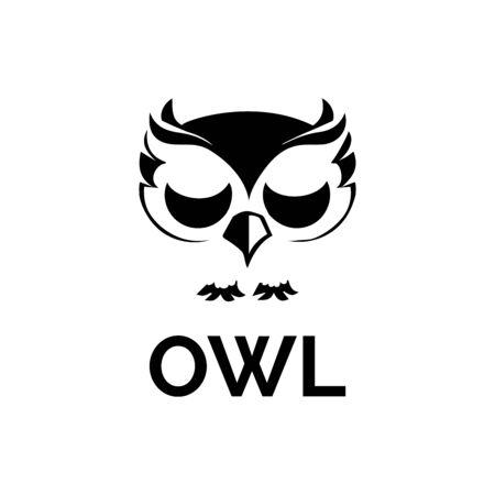 hibou oiseau illustration logo modèle vecteur icône Logo