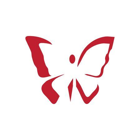 Beauty Butterfly Logo Template Vector icon design Archivio Fotografico - 138371721